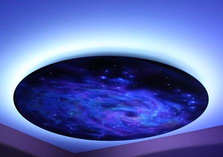 Смонтированный потолок звездное небо в стиле «космос»